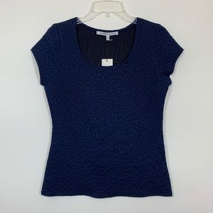 Collective Concepts Navy Textured Top